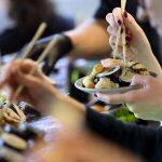 Lunch bufet sushi